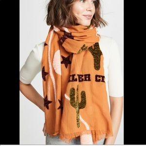 MADEWELL New Mexico Map Chenille Scarf NWOT